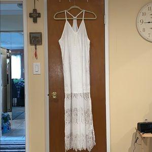 Pretty white lace maxi!